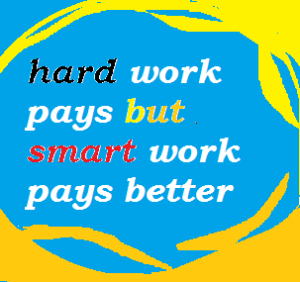 hard work and smart work are together keys to success