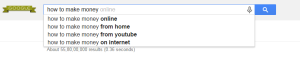 google search engine suggestions